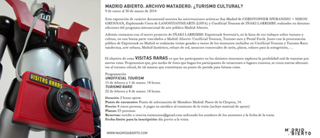 Una mirada al turismo cultural en Matadero y visitas raras   Blog del ...   Turismo cultural en España   Scoop.it