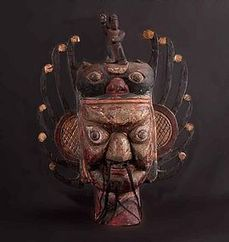 Old chinese ritual Nuo Mask, N°42, China (item #1069669) | Una mirada occidental-Teatro Chino | Scoop.it