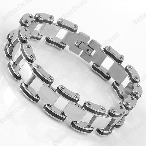 Mens Rock Punk Stainless Steel Bracelet1PC Stainless Steel Chain Link Mens Bracelet Bangle Rock Punk Jewelry A0901 | Fashion Jewelry | Scoop.it