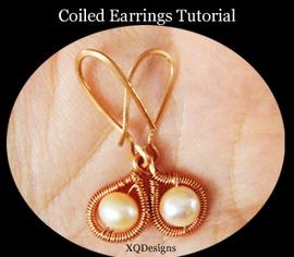 DIY Wire Jewelry: Classy Coiled Earrings | artisan jewelry | Scoop.it