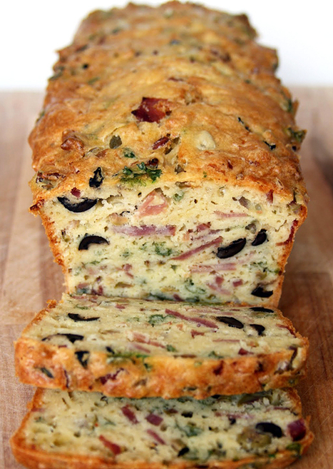 Recipe: Olive, Bacon and Cheese Bread | Food | Scoop.it
