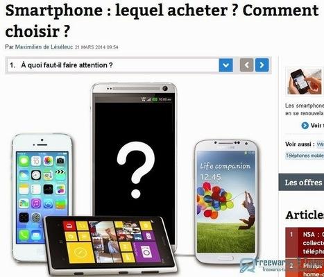 Le site du jour : comment choisir son smartphone ?   Freewares   Scoop.it