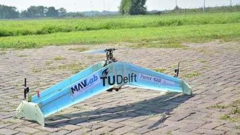 Fixed-wing drone rises like a chopper and levels out when it's time to fly | Energy, Infrastructure & Technology | Scoop.it