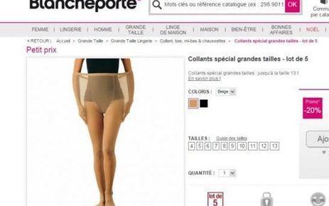 Collants XXL : le site «La Blanche Porte» provoque la colère des internautes | Plus-Size Fashion | Scoop.it