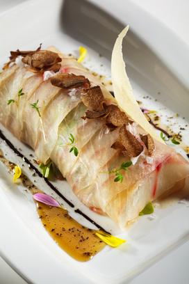 Seabass Carpaccio Salad with Crispy Garlic | American Food | Scoop.it