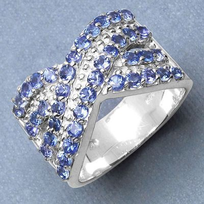 1.20CTW Genuine Tanzanite .925 Sterling Silver Ring   Online Jewellery Shopping in India   Scoop.it