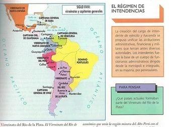 Ubicación de los Virreinatos y las Capitanías Generales en América | Historia 5º | Scoop.it