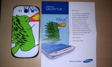 This takes customer care to a whole new dimension - Akid exchanges a drawing for a free Unique samsung sII | Cellphones and wireless network | Scoop.it
