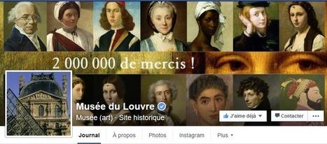 Top 40 musées et monuments français Facebook Twitter Instagram (1er mars 2016): le Louvre dépasse les 2 millions d'abonnés sur Facebook ! | L'actu culturelle | Scoop.it