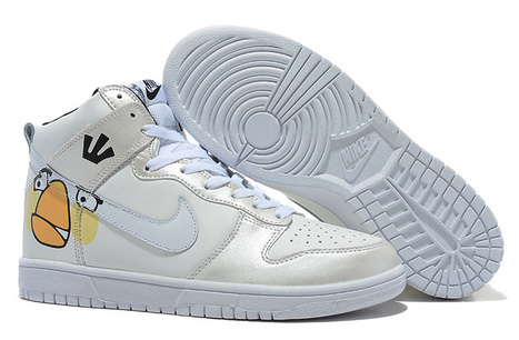White Angry Birds Nike shoes,Nike dunk white angry birds sneakers | Custom Cartoon Dunks | Scoop.it
