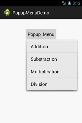 Android Popup Menu Example | TutorialsBuzz , Programming Blog for android ,java | Scoop.it