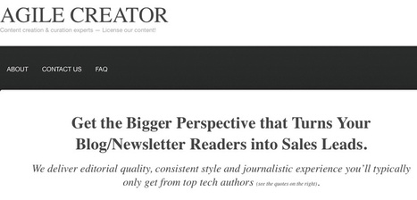 Content licensing service says you'll get more sales leads by delivering the bigger perspective | IT Enquirer | Scoop.it