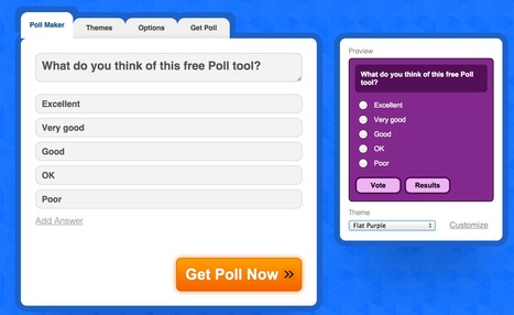 Poll Creator | Web2.0 Tools for Staff and Students | Scoop.it