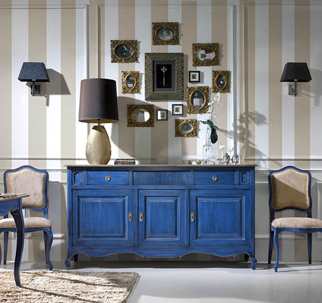 Amazing Classic Buffet in Blue color | Classic French Furniture - Italian Interior designs | Scoop.it