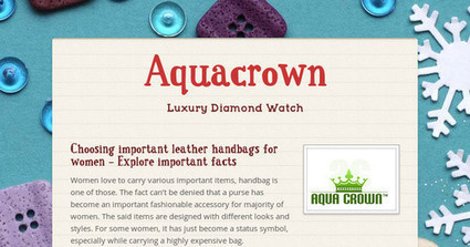 Choosing important leather handbags for women – Explore important facts | aquacrown | Scoop.it