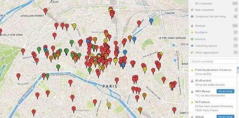 Une carte de Paris pour repérer les start-up | Actualités Start-up | Scoop.it