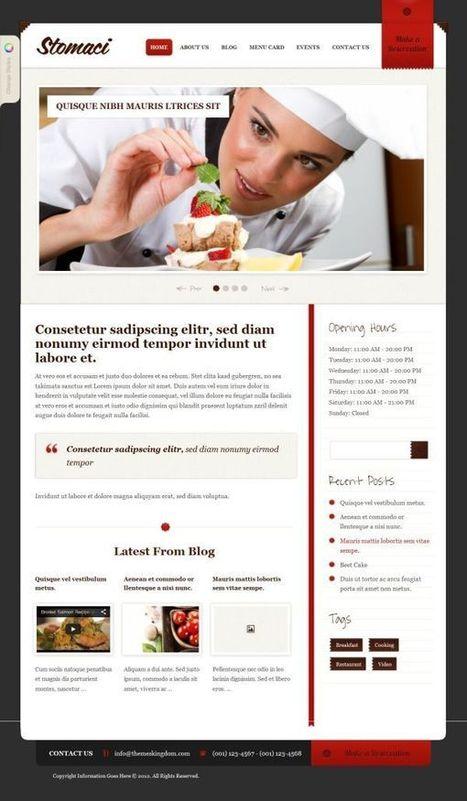 Stomaci Restaurants Wordpress Theme   Premium iThemes   Themes & Templates   Scoop.it