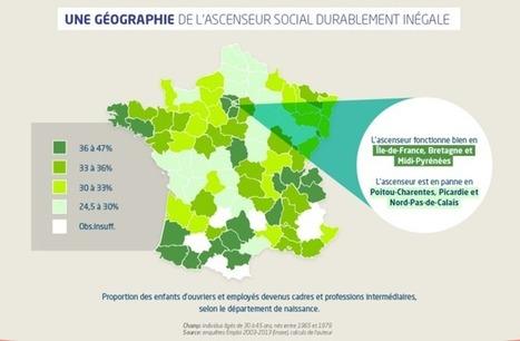 Une carte de France de l'ascension sociale | Econopoli | Scoop.it