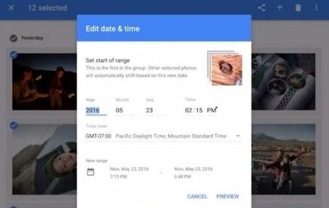 Google Fotos ya nos permite cambiar la fecha de varias fotos al mismo tiempo | Recull diari | Scoop.it