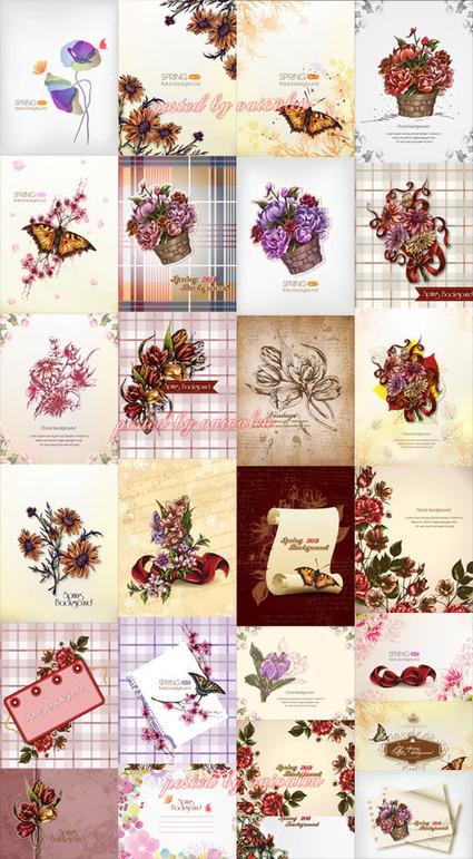 27 Spring Floral Illustrations Set 2 | Norasack Design | Scoop.it