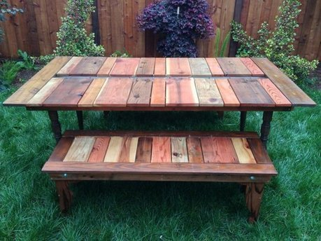 DIY Reclaimed Wood Picnic Table  Instructables | Mr Brown's Design and Technology | Scoop.it