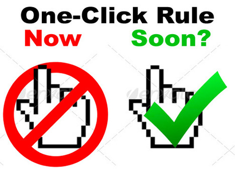 """Will We Soon See the FDA Approve the """"One-Click Rule"""" in Official Guidance? 