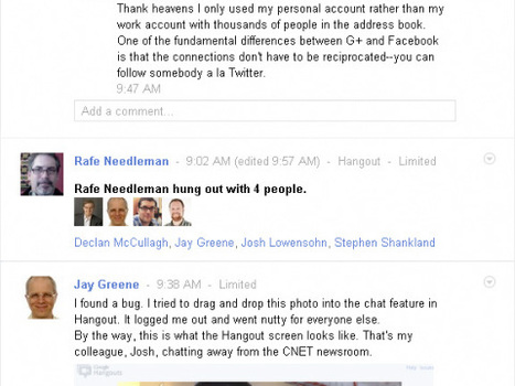 A hands-on look at Google+, using Google+ to curate comments   The Google+ Project   Scoop.it