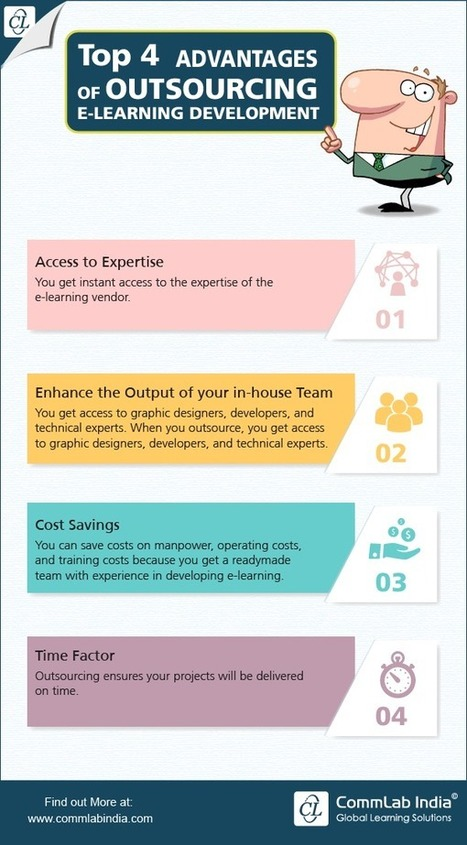 4 Advantages of Outsourcing E-learning Development [Infographic] | eLearning Infographics | Scoop.it
