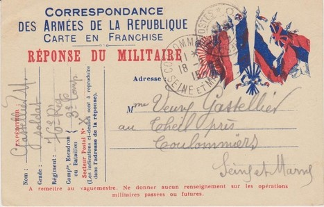 La correspondance d'un cultivateur-soldat (1913-1919) | Sources de ... | CDI RAISMES - MA | Scoop.it