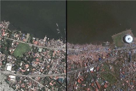 Typhoon Haiyan Before & After | Geography | Scoop.it