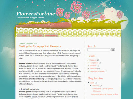 Flowers Fortune | Ngoding | Blogger themes | Scoop.it