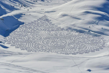 Expansive New Geometric Drawings Trampled in Snow and Sand by Simon Beck | World of Street & Outdoor Arts | Scoop.it