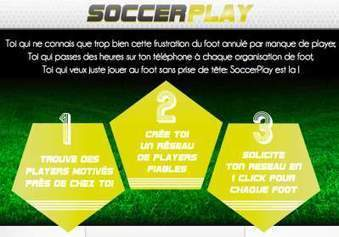 SoccerPlay : « Tous ceux qui jouent au foot en loisir galèrent à trouver des joueurs »   Bazar citoyen   Scoop.it