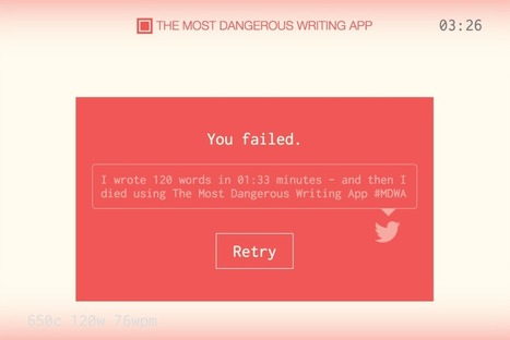 Sadistic Writing App Deletes Your Work if You Stop Typing | Wired | SocialMoMojo Web | Scoop.it