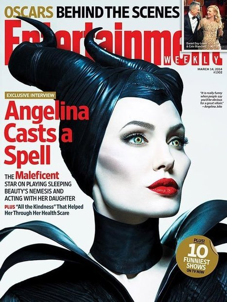 "Angelina Jolie in New ""Maleficent"" Poster Photographed by Mert & Marcus 