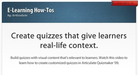 How to make quizzes relevant to your learner's job context | Useful stuff | Scoop.it