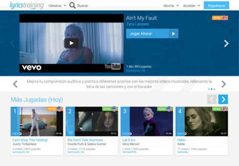 Cómo aprender inglés o cualquier otro idioma con vídeos musicales | Asómate | Educacion, ecologia y TIC | Scoop.it
