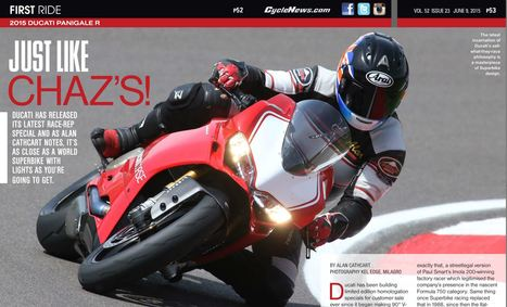 Cycle News - First Ride 2015 Panigale R | Ductalk Ducati News | Scoop.it