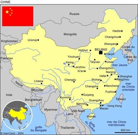 Carte géographique et touristique de la Chine, Pékin. Géographie de la Chine | Infos voyages | Scoop.it