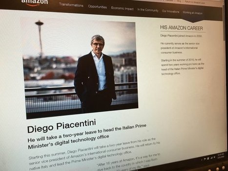 Amazon Exec to Head Italy's Digital Technology Office | Go Open Government | Scoop.it