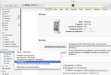 Guide pour sauver et restaurer sans perdre ses données en changeant d'iPhone | Time to Learn | Scoop.it