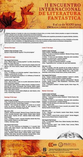 Ouroboros Lair: II Encuentro Internacional de Literatura Fantástica (Biblioteca Nacional - Buenos Aires, 8 a 12 de Maio 2015) | Paraliteraturas + Pessoa, Borges e Lovecraft | Scoop.it