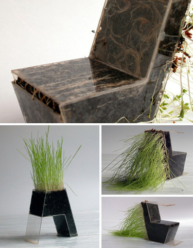 DIY Plant Furniture: Green-Growing Organic Home Objects | Designs & Ideas on Dornob | plant and design | Scoop.it