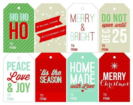 Free Holiday Printable Gift Tags | Two Peas & Their Pod | Gift Baskets | Scoop.it