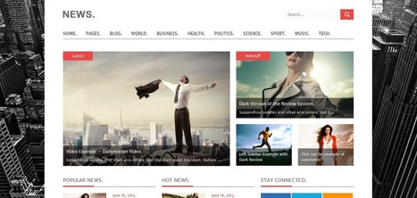 28 Responsive News and Magazine WordPress Themes   Web Design   Scoop.it