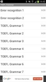 TOEFL® Grammaire - Applications Android sur GooglePlay | Android to learn English | Scoop.it