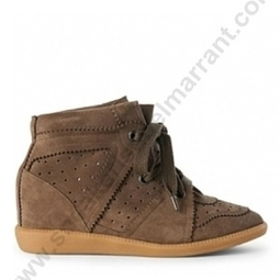 Hot Sale HUYID-07O Isabel Marant BobBy Taupe Suede Sneakers | sneakerisabelmarrant.com | Scoop.it
