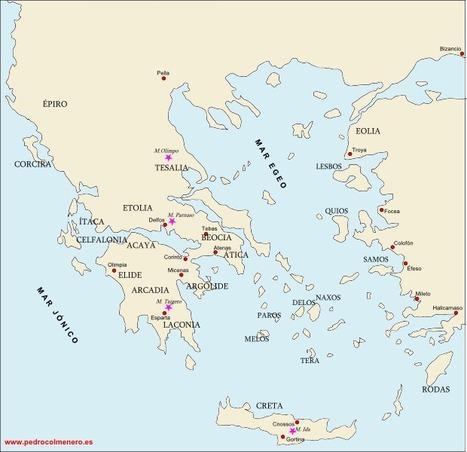 Mapas de la Grecia Antigua - Recursos para las Ciencias Sociales | Cultura Clásica | Scoop.it