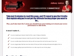Ultimate Hockey Conditioning: The Complete Strength Conditioning ... | Hockey Training Magazine | Scoop.it