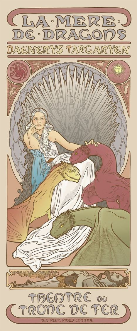 'Game of Thrones' Ladies As Mucha-Inspired Posters | All Geeks | Scoop.it